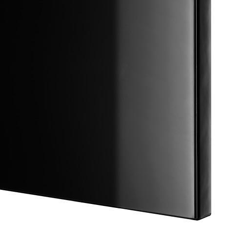 BESTÅ - TV storage combination/glass doors, black-brown/Selsviken high-gloss/black clear glass   IKEA Hong Kong and Macau - PE535774_S4