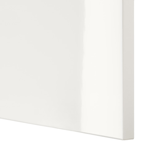 BESTÅ - 電視貯物組合/玻璃門, white/Selsviken high-gloss/white clear glass | IKEA 香港及澳門 - PE535772_S4