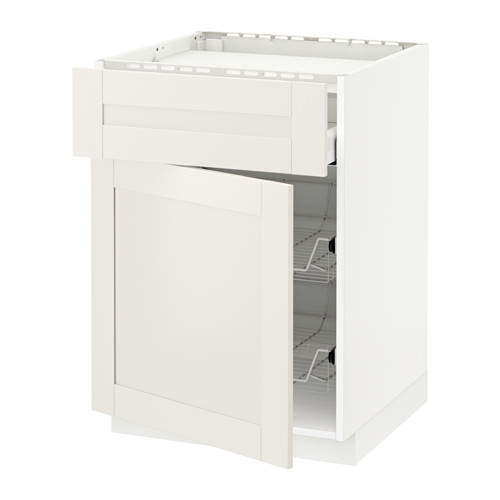 METOD/MAXIMERA base cab f hob/drawer/2 wire bskts