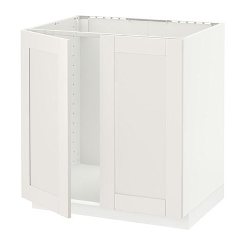 METOD - base cabinet for sink + 2 doors, white/Sävedal white   IKEA Hong Kong and Macau - PE528875_S4