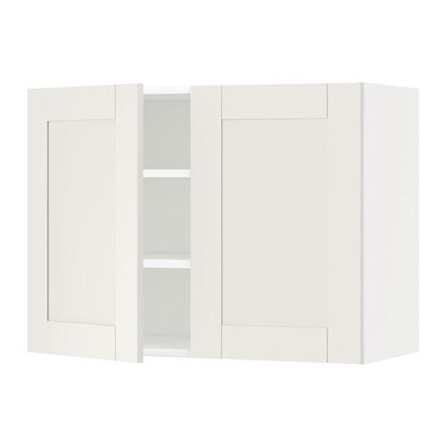 METOD - wall cabinet with shelves/2 doors, white/Sävedal white | IKEA Hong Kong and Macau - PE528878_S4