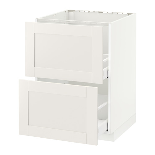 METOD/MAXIMERA - base cab f sink+2 fronts/2 drawers, white/Sävedal white | IKEA Hong Kong and Macau - PE528890_S4