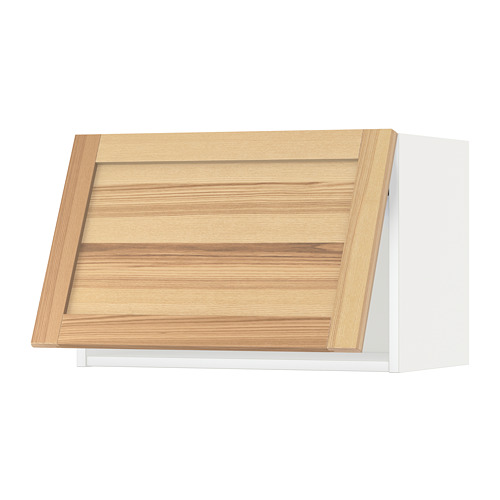 METOD - wall cabinet horizontal, white/Torhamn ash | IKEA Hong Kong and Macau - PE654420_S4