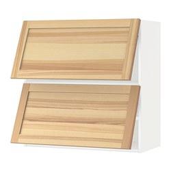 METOD - wall cabinet horizontal w 2 doors, white/Torhamn ash | IKEA Hong Kong and Macau - PE654393_S3