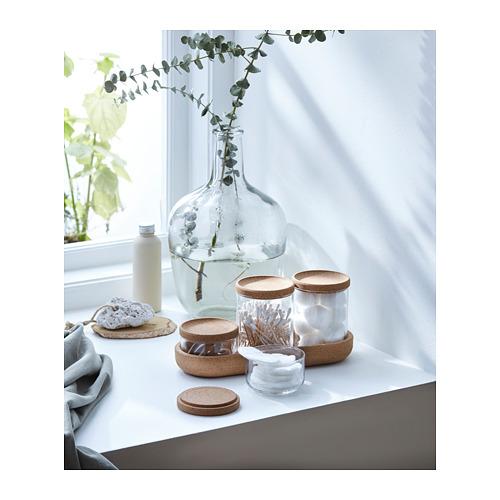 SAXBORGA - jar with lid and tray, set of 5, glass cork | IKEA Hong Kong and Macau - PH153826_S4