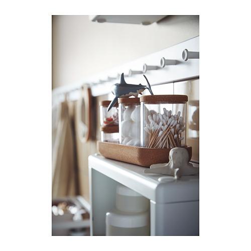 SAXBORGA - jar with lid and tray, set of 5, glass cork | IKEA Hong Kong and Macau - PH151556_S4