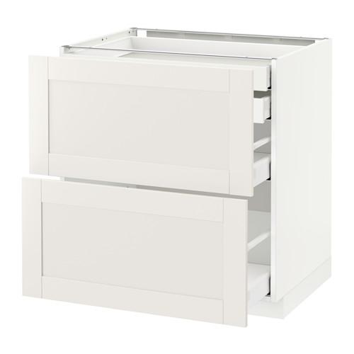 METOD - base cb 2 frnts/2 low/1 md/1 hi drw, white Maximera/Sävedal white | IKEA Hong Kong and Macau - PE528911_S4