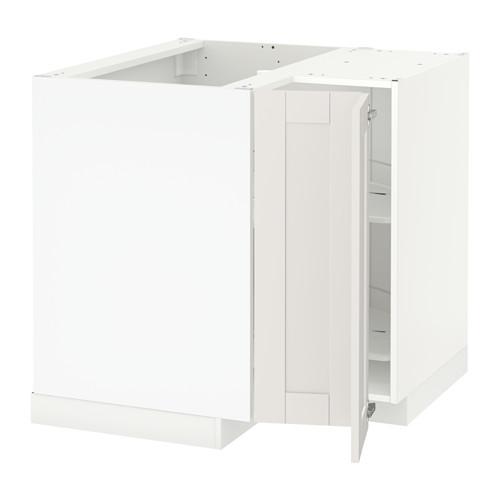 METOD - corner base cabinet with carousel, white/Sävedal white | IKEA Hong Kong and Macau - PE528920_S4