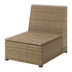 SOLLERÖN - one-seat section, outdoor, brown | IKEA Hong Kong and Macau - PE701717_S3