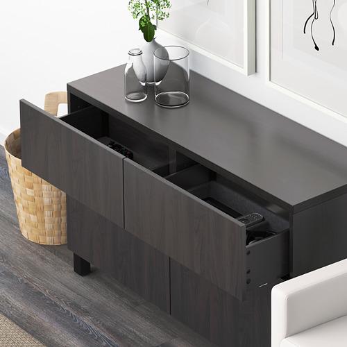 BESTÅ - 貯物組合連門/抽屜, black-brown/Lappviken/Stubbarp black-brown | IKEA 香港及澳門 - PE591431_S4
