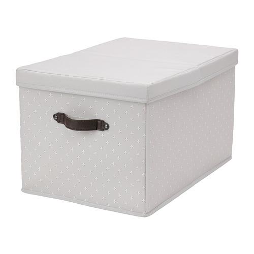 BLÄDDRARE - box with lid, grey/patterned | IKEA Hong Kong and Macau - PE796874_S4