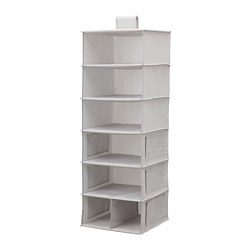 BLÄDDRARE - hanging storage with 7 compartments, grey/patterned | IKEA Hong Kong and Macau - PE796873_S3