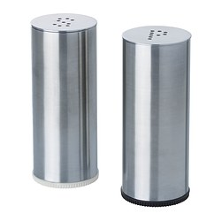PLATS - salt/pepper shaker, set of 2, stainless steel | IKEA Hong Kong and Macau - PE302951_S3