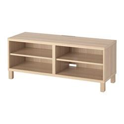 BESTÅ - TV bench, white stained oak effect | IKEA Hong Kong and Macau - PE535663_S3