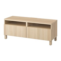 BESTÅ - TV bench with drawers, Lappviken white stained oak effect | IKEA Hong Kong and Macau - PE535924_S3