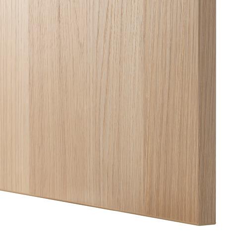BESTÅ - 電視貯物組合/玻璃門, white stained oak effect/Lappviken white stained oak eff clear glass | IKEA 香港及澳門 - PE535504_S4