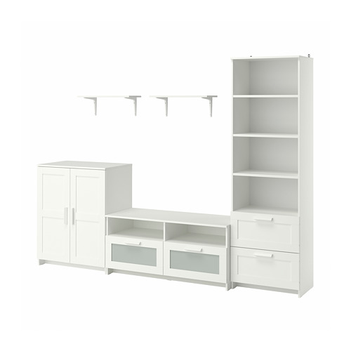 BRIMNES/BURHULT - TV storage combination, white | IKEA Hong Kong and Macau - PE796943_S4