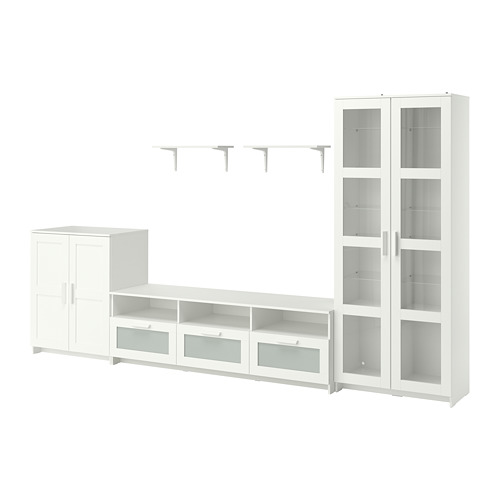 BRIMNES/BURHULT - TV storage combination, white | IKEA Hong Kong and Macau - PE796944_S4