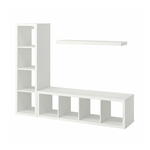 LACK/KALLAX - 貯物組合連層板, 白色 | IKEA 香港及澳門 - PE796947_S4