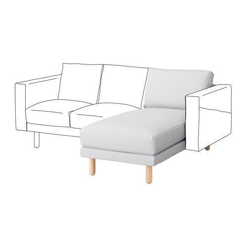 NORSBORG - chaise longue section, Finnsta white/birch | IKEA Hong Kong and Macau - PE654608_S4