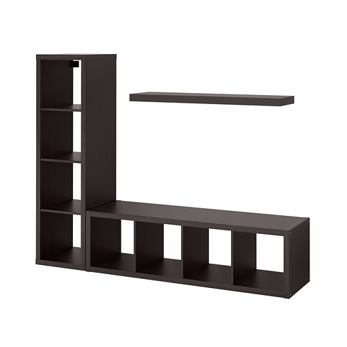 LACK/KALLAX storage combination with shelf