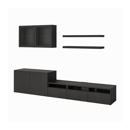 LACK/BESTÅ - TV storage combination, black-brown | IKEA Hong Kong and Macau - PE796980_S4