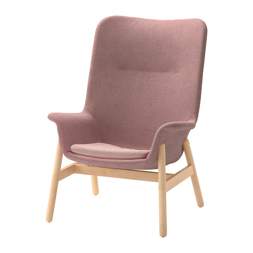 VEDBO - high-back armchair, Gunnared light brown-pink | IKEA Hong Kong and Macau - PE701951_S4