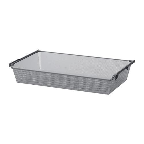 KOMPLEMENT - mesh basket with pull-out rail, dark grey   IKEA Hong Kong and Macau - PE702080_S4