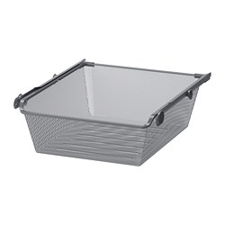 KOMPLEMENT - mesh basket with pull-out rail, dark grey | IKEA Hong Kong and Macau - PE702082_S3