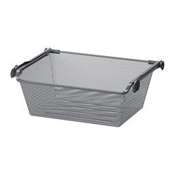 KOMPLEMENT - mesh basket with pull-out rail, dark grey | IKEA Hong Kong and Macau - PE702083_S3