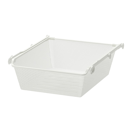 KOMPLEMENT - mesh basket with pull-out rail, white | IKEA Hong Kong and Macau - PE702093_S4