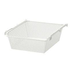 KOMPLEMENT - metal basket with pull-out rail, white | IKEA Hong Kong and Macau - PE702097_S3