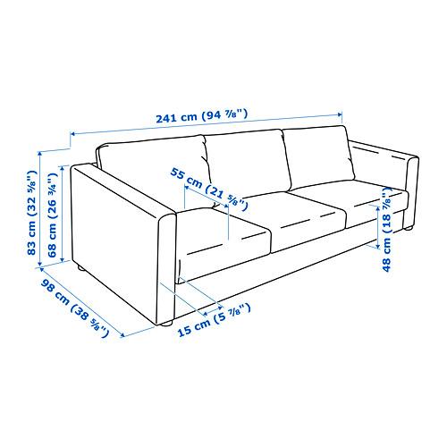 VIMLE - 3-seat sofa, Hallarp grey | IKEA Hong Kong and Macau - PE743114_S4