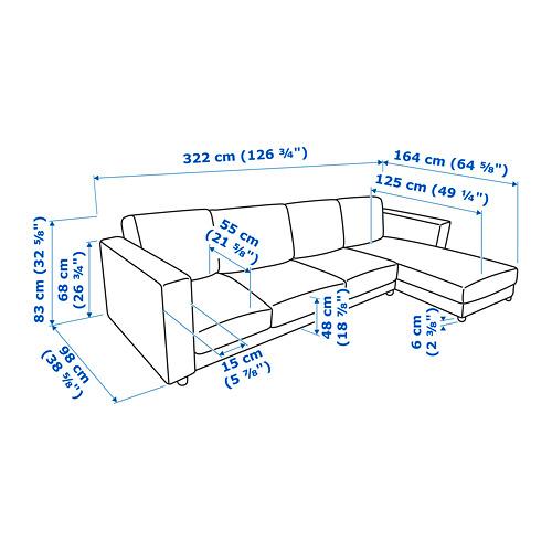 VIMLE - 四座位梳化連躺椅, Saxemara 藍黑色 | IKEA 香港及澳門 - PE743117_S4