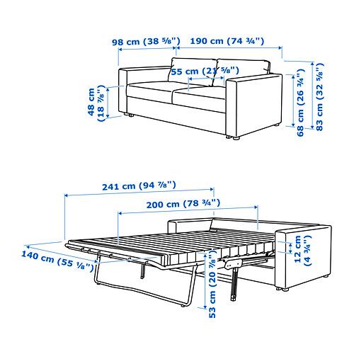 VIMLE - 兩座位梳化床, Gunnared medium grey | IKEA 香港及澳門 - PE743125_S4