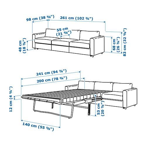 VIMLE - 3-seat sofa-bed, Hallarp grey | IKEA Hong Kong and Macau - PE743127_S4
