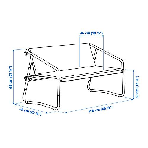INGMARSÖ - 兩座位梳化,室內/戶外用, 白色 綠色/米黃色 | IKEA 香港及澳門 - PE797010_S4