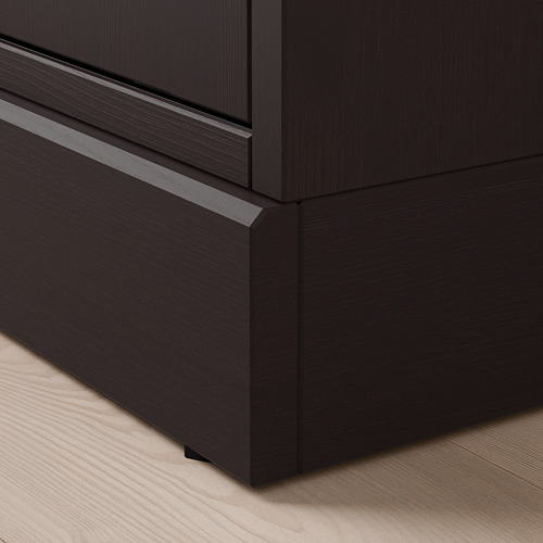 HAVSTA - TV storage combination/glass doors, dark brown | IKEA Hong Kong and Macau - PE692892_S4