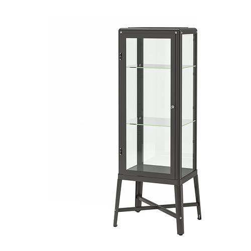 FABRIKÖR - glass-door cabinet, dark grey | IKEA Hong Kong and Macau - PE702478_S4