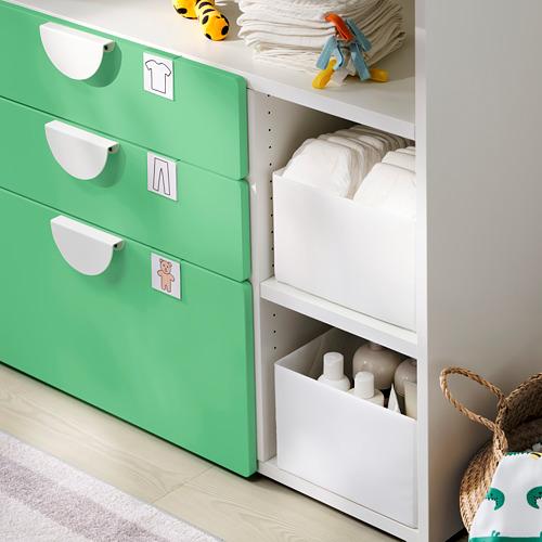 SMÅSTAD - 更換尿布檯, white green/with 3 drawers | IKEA 香港及澳門 - PE797167_S4