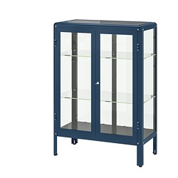 FABRIKÖR - glass-door cabinet, black-blue | IKEA Hong Kong and Macau - PE702481_S3