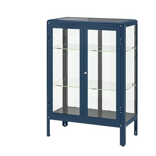 FABRIKÖR - glass-door cabinet, black-blue | IKEA Hong Kong and Macau - PE702481_S4
