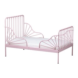 MINNEN - ext bed frame with slatted bed base, light pink | IKEA Hong Kong and Macau - PE797209_S3