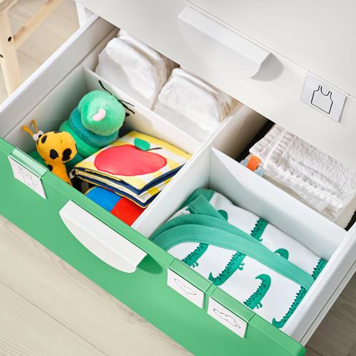 SMÅSTAD - 更換尿布檯, white green/with 3 drawers | IKEA 香港及澳門 - PE797231_S4