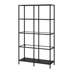 VITTSJÖ - shelving unit, black-brown/glass | IKEA Hong Kong and Macau - PE702638_S3