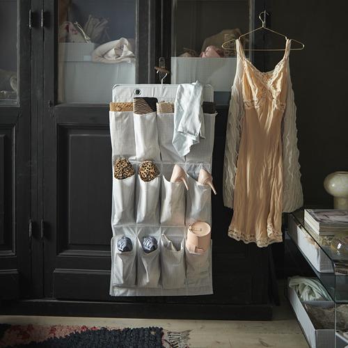STUK - hanging shoe organiser w 16 pockets, white/grey | IKEA Hong Kong and Macau - PE743220_S4