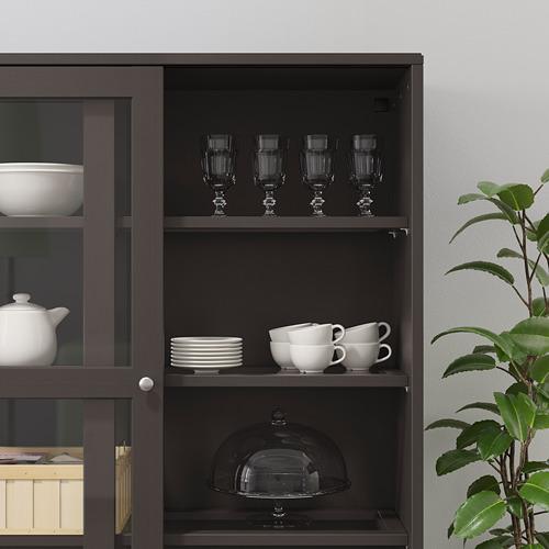 HAVSTA - storage comb w sliding glass doors, dark brown | IKEA Hong Kong and Macau - PE694801_S4