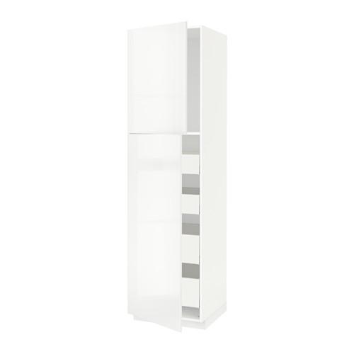 METOD/MAXIMERA - hi cab w 2 doors/4 drawers, white/Ringhult white | IKEA 香港及澳門 - PE529832_S4