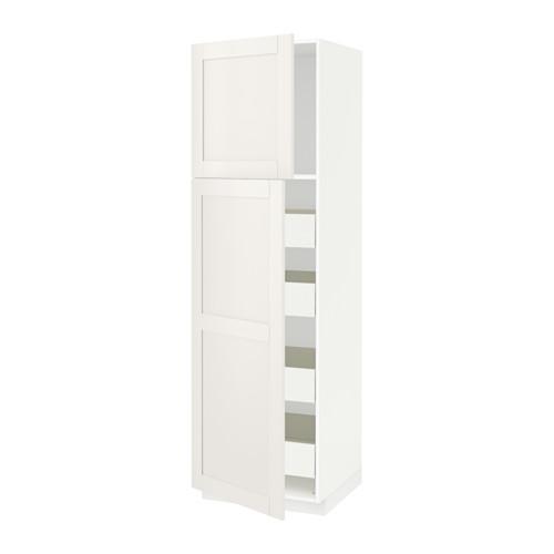 METOD/FÖRVARA hi cab w 2 doors/4 drawers