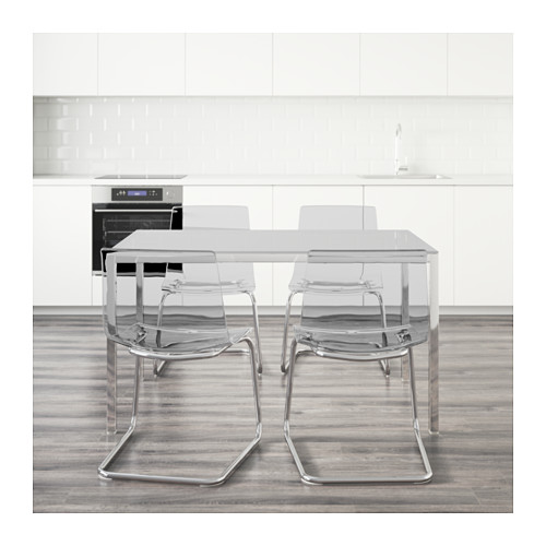 TORSBY/TOBIAS - table and 4 chairs, white/transparent | IKEA Hong Kong and Macau - PE594990_S4